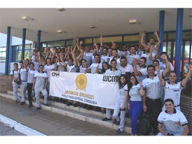 Colleagues from the Córdoba site celebrating their WCM Bronze award