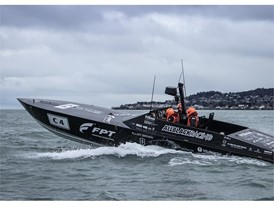 The record-setting FPT & Allblack Racing SL44 Powerboat