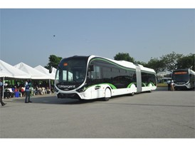 A Crealis bus that will be used in Ivory Coast