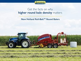 Penn State study finds New Holland Roll-Belt™ Round Balers lead industry in bale density