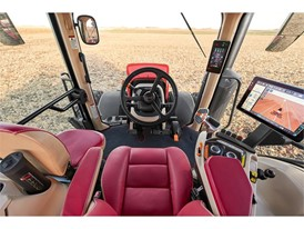 The cabs of the new AFS Connect Magnum series tractors from Case IH provide automotive-grade finishes