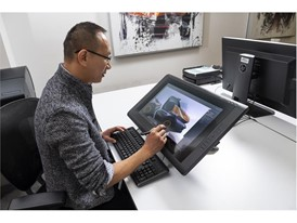 Digital sketching techinques were used to refine the initial design images, here using a tablet