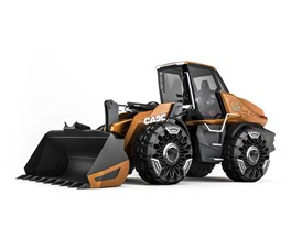 CASE methane powered wheel loader concept ProjectTETRA - Innovative airless concept tyres codeveloped with Michelin