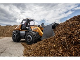 The methane powered wheel loader concept can work in a variety of operating environments