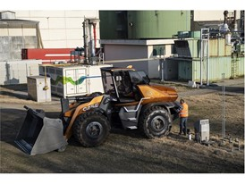 The methane powered wheel loader can be fueled using biomethane generated from organic waste