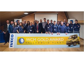 Colleagues from the Valladolid site celebrating their WCM Gold award
