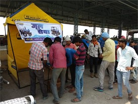 Drinking water booth at agriculture mandi in Vidisha district, Madhya Pradesh