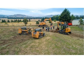 CASE Construction Equipment working to prepare the ground at the One Voice charitable initiative in Australia