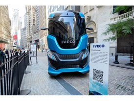 IVECO Z TRUCK in front of the NYSE