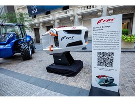 FPT Industrial's Cursor X engine in front of the NYSE