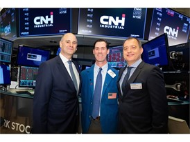 CEO Hubertus Mühlhäuser, CFO Max Chiara on the floor of the NYSE
