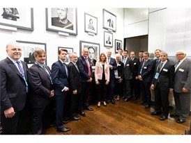 Chairperson, Lady Suzanne Heywood, CEO Hubertus Mühlhäuser, Board and GEC Members inside the New York Stock Exchange Hal