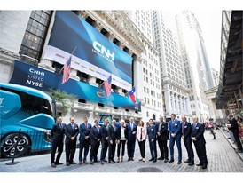 Chairperson, Lady Suzanne Heywood, CEO Hubertus Mühlhäuser and GEC Members in front of the New York Stock Exchange
