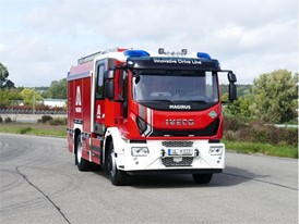 The world's first natural gas-powered fire engine from Magirus