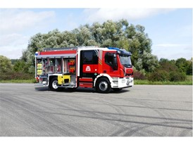 The first CNG-powered fire engine was unveiled in Ulm, Germany