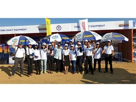 Yoma Heavy Equipment (YHE) team at Agritechnica Asia Live exhibition
