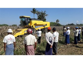 New Holland demonstrates TC5.30 multi-crop combine in Myanmar