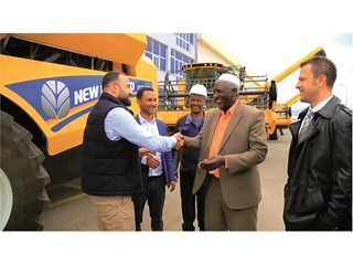 Delivery of the 45th New Holland combine harvester in 2017 to Ethiopia