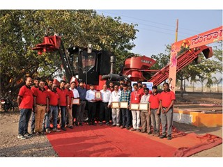 Case IH Sugarcane Harvester records highest harvesting in 3.5 hours in India