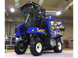 New Holland Agriculture celebrates as the 15,000th Braud grape harvester rolls off the production lines