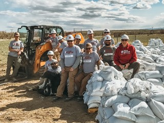 CASE, Century Equipment Provide CTL for Flood Mitigation Operation