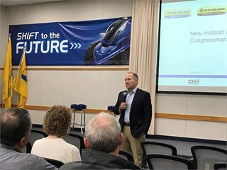United States lawmakers discuss current issues impacting U.S. agriculture and manufacturing sectors with CNH Industrial employees