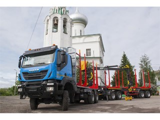 IVECO Trakker Log Truck Presented to Logging Companies in Vologda