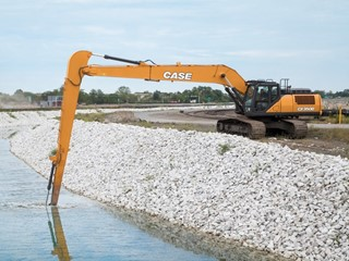 CASE Announces CX350D Long Reach Excavator