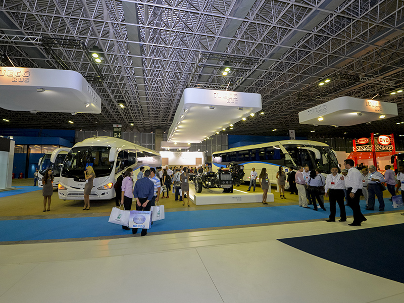 The Iveco Bus stand at FetransRio 2014