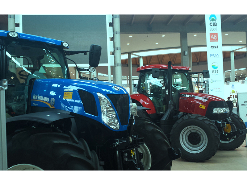 Tractors from CNH_Industrial brands Case IH and New Holland Agriculture at Biogas Italy event