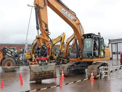 CX210C Excavator Stars At Swecase Rodeo Operator Competition