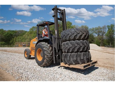 CASE Rough Terrain Forklifts go Tier 4 Final with Maintenance-free Particulate Matter Catalyst