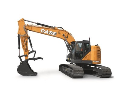 CASE Expands D Series with CX245D SR Minimum-Swing Excavator
