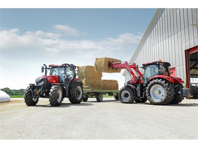 New eight-speed semi-powershift joins four-speed semipowershift and CVX as transmission options for Maxxum tractor range