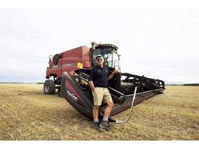 Case IH equipment harvests a new world record wheat yield