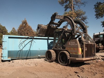 CASE, Titan Machinery and Sonsray Machinery Provide Equipment for Wildfire Cleanup Operation