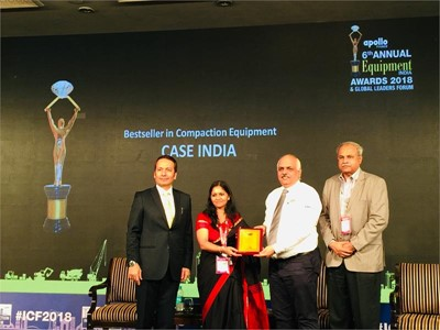 CASE Construction Equipment wins Equipment India Award for sixth consecutive year