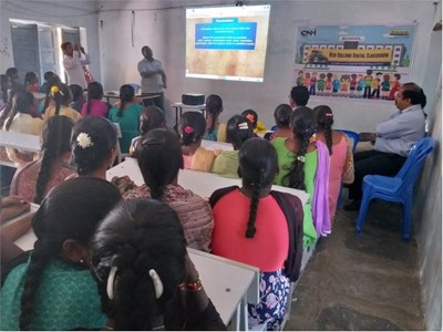 """Launch of the """"New Holland Digital Classroom"""" CSR initiative from CNH Industrial in Mahbubnagar, Telangana"""
