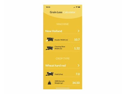 New Holland launches Grain Loss Calculator application to help with optimal adjustment of combine harvester