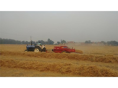 Collecting and baling straw, rather than burning it, can help fix northern India's severe air pollution problems