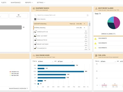 CASE Sitewatch dashboard
