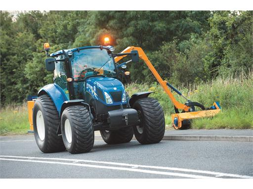 New Holland T5.105 verge trimming
