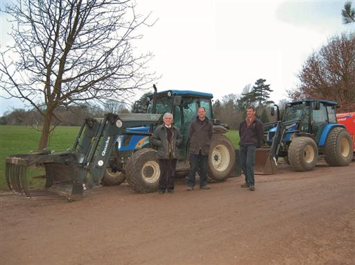 New Holland Tractors at Oxford University Parks