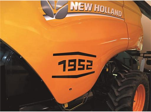 New Holland CX8090 commemorative edition to celebrate 60 years of self-propelled combines in Europe