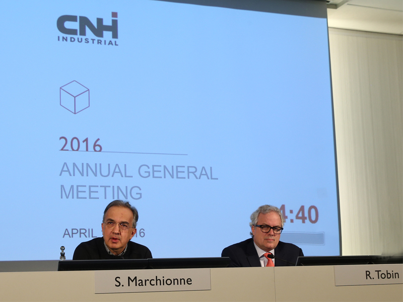 CNH Industrial AGM 2016 Chairman Sergio Marchionne (left) and CEO Richard Tobin