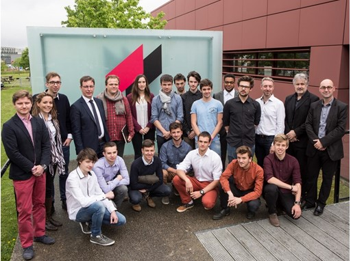 Transport Design students and faculty from L'École de design Nantes Atlantique with the CNH Industrial Design Team