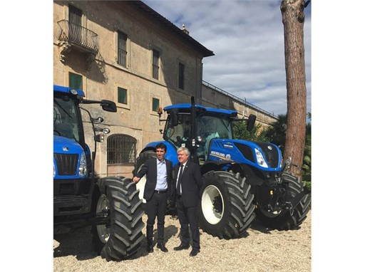 Maurizio Martina, Minister for Agriculture, Food and Forestry with Carlo Lambro, Brand President New Holland Agriculture