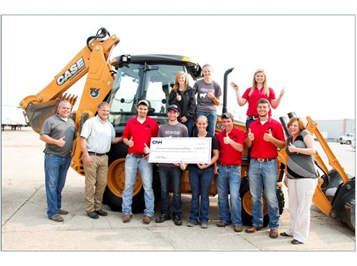 The 580N CASE backhoe will be used to train students in both construction and agriculture departments.