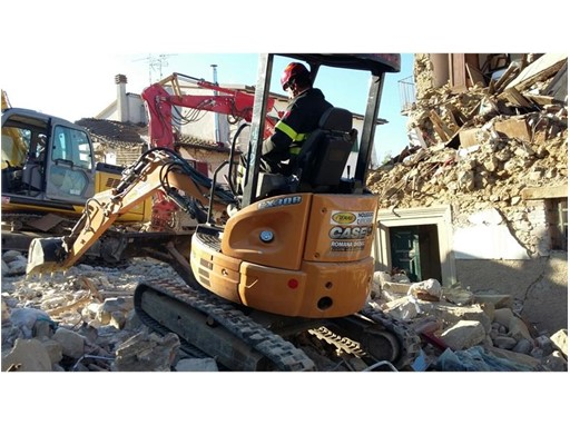 Case Mini Excavator Operating in Central Italy
