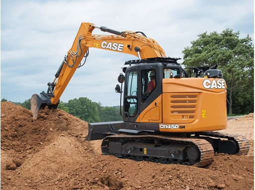 CASE CX145D SR Minimum-Swing Crawler Excavator